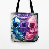 skulls Tote Bags featuring Skulls by very giorgious