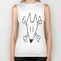 bull terrier Biker Tanks featuring Bull Terrier Skull by Chiaris