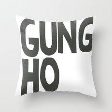 GUNG HO Throw Pillow
