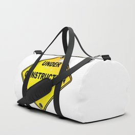 Yellow Under Construction Sign Duffle Bag
