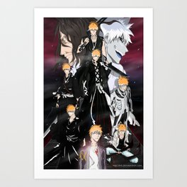 Ichigo Evolution Art Print