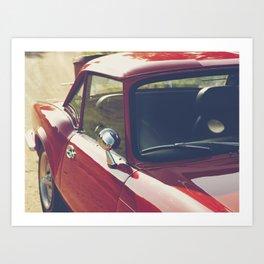 Triumph Spitfire, British sportscar details, English car Art Print