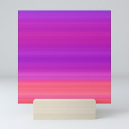 Orange & Purple Stripes | Bright ombre gradient pattern Mini Art Print