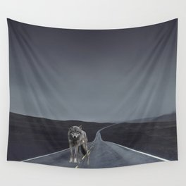 Road Wolf Wall Tapestry
