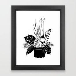 Never grow up Framed Art Print