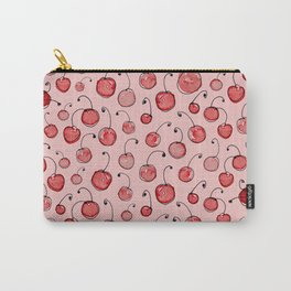 Cherries on pink Carry-All Pouch