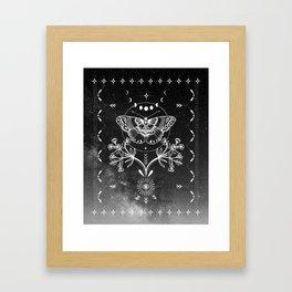 Magical Moth Black Framed Art Print
