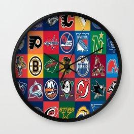 Hockey Logos Wall Clock