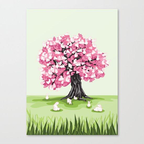 Bunny Blossom Tree Canvas Print