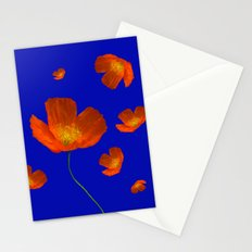 Poppies in th sun Stationery Cards