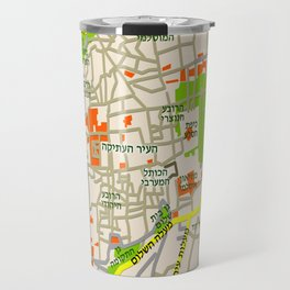 Jerusalem Map Design Travel Mug