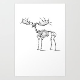 Dead Moose Art Print