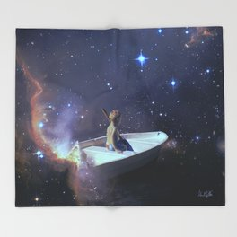 We Are Sailing - Universe, Space, Cosmos Throw Blanket