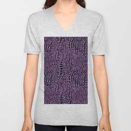 Neon crocodile/alligator skin Unisex V-Neck