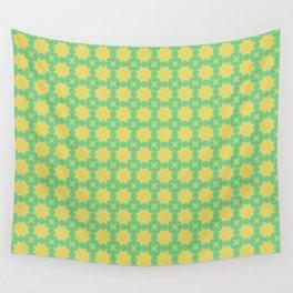 Flower pattern jaune yellow Wall Tapestry