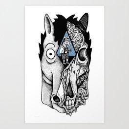 ABojack Horseman. Art Print