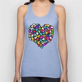 Rainbow LOVE Hearts Unisex Tank Top
