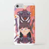 evangelion iPhone & iPod Cases featuring Evangelion Kids by minthues