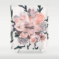 georgiana paraschiv Shower Curtains featuring Summer Flowers by Georgiana Paraschiv