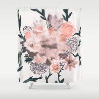 kpop Shower Curtains featuring Summer Flowers by Georgiana Paraschiv