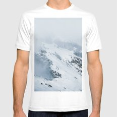 Old Mountain - Minimalist Landscape Photography MEDIUM White Mens Fitted Tee