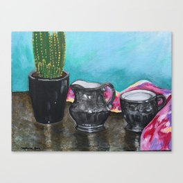Cactus and Tea Canvas Print