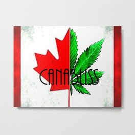 CannaBliss Metal Print