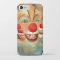 clown iPhone & iPod Cases featuring clown by robotrake