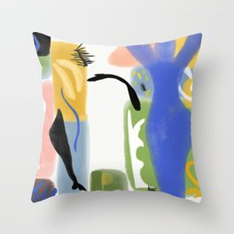 Ode to Matisse Throw Pillow