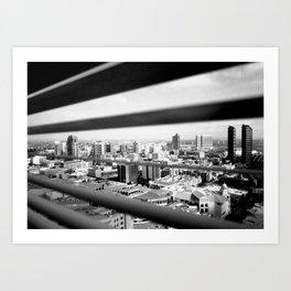 San Diego Through the Blinds Art Print
