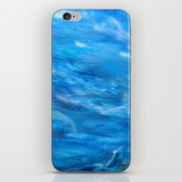 O' deep blue sea water painting iPhone Skin
