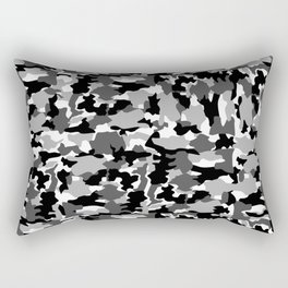 black and white Background Pattern Camo Rectangular Pillow