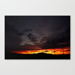sunset lines Canvas Print