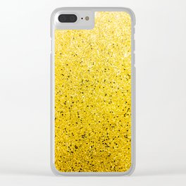 Vibrant Glittery Golden Sparkle Clear iPhone Case