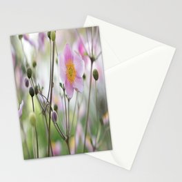 Beauty Anemone flower pattern in pastel Stationery Cards