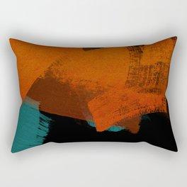 brush stroke black rust red petrol Rectangular Pillow