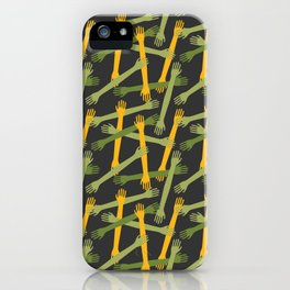 Hands pattern iPhone Case