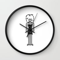 tina crespo Wall Clocks featuring Tina Turner by Band Land