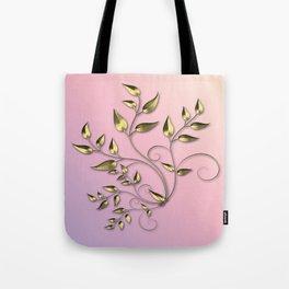 Gold flower Tote Bag