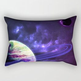 Space Rings Rectangular Pillow