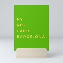 Best cities Mini Art Print