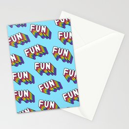 FUN pattern. Blue. Stationery Cards