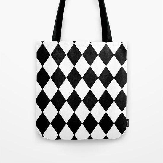 Diamonds (Black/White) Tote Bag