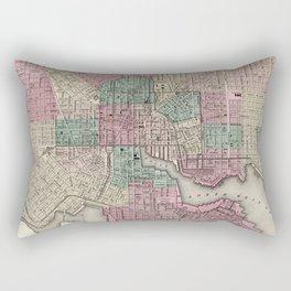 Vintage Map of Baltimore MD (1873) Rectangular Pillow