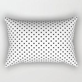 Classic Small Black Polkadots On White Rectangular Pillow