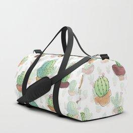 Watercolor Cactus II Duffle Bag