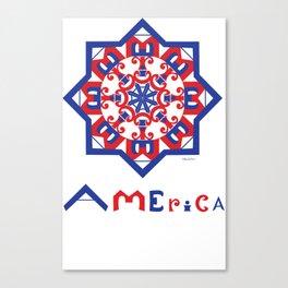 American Star Canvas Print