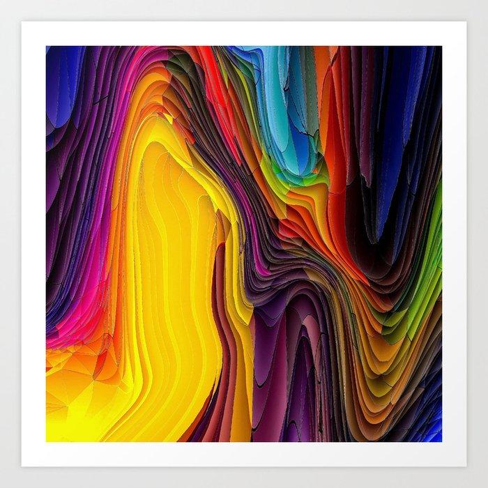 Melting Pot of Colors Abstract Art Print