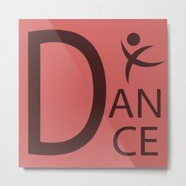 Red Dance Symbol Metal Print