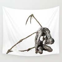 nightmare Wall Tapestries featuring Nightmare by Caterina Zamai